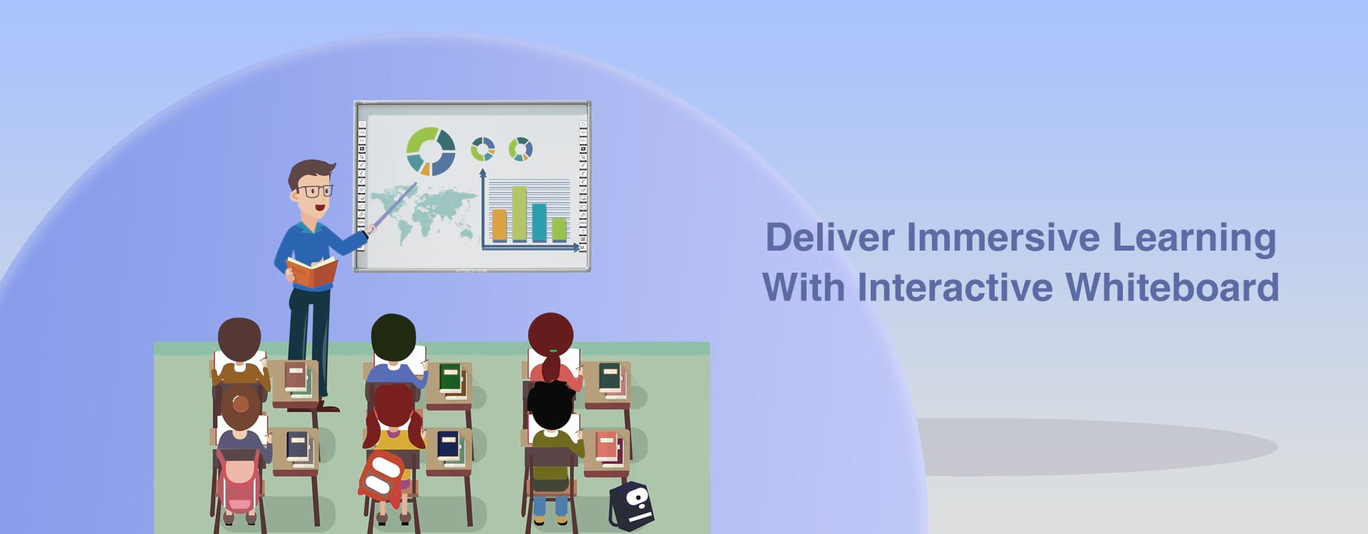 Smart Class with INTECH Interactive Whiteboard