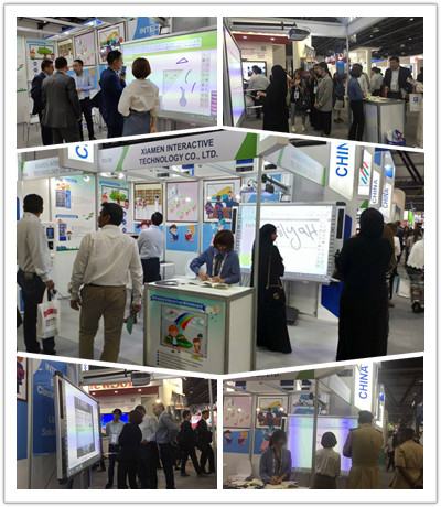 Visitors show great interest in Intech.all in one interactive whiteboard