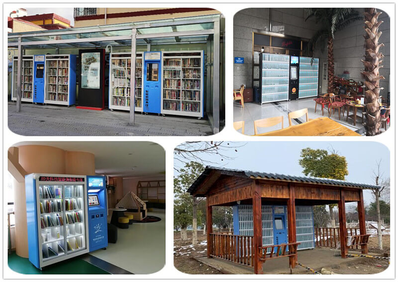 Intech smart mini library in the community, park, office areas