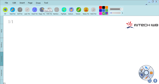 INTECH interactive whiteboard software V5.1.0