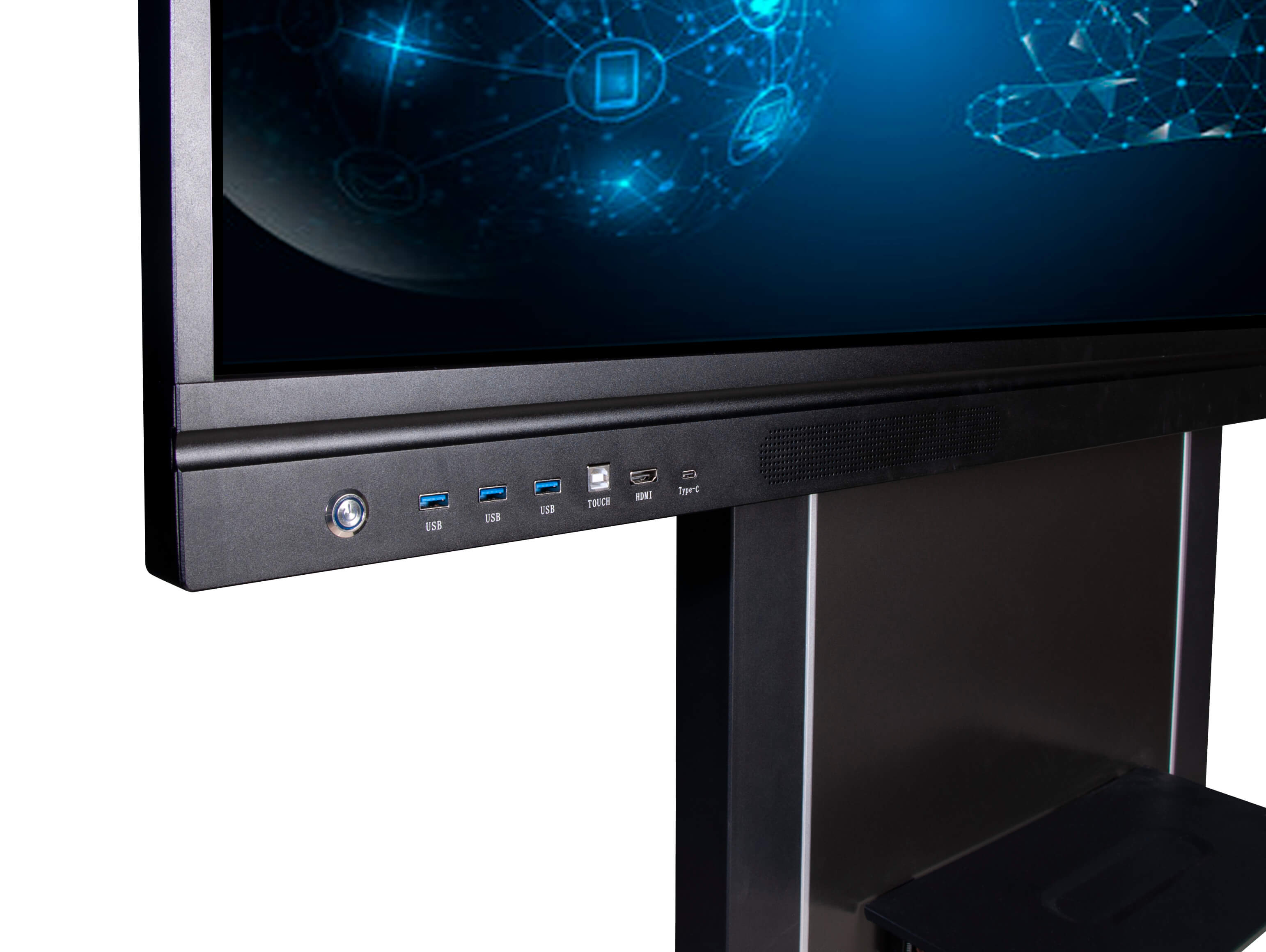 Intech interactive flat panel with USB Type-C port