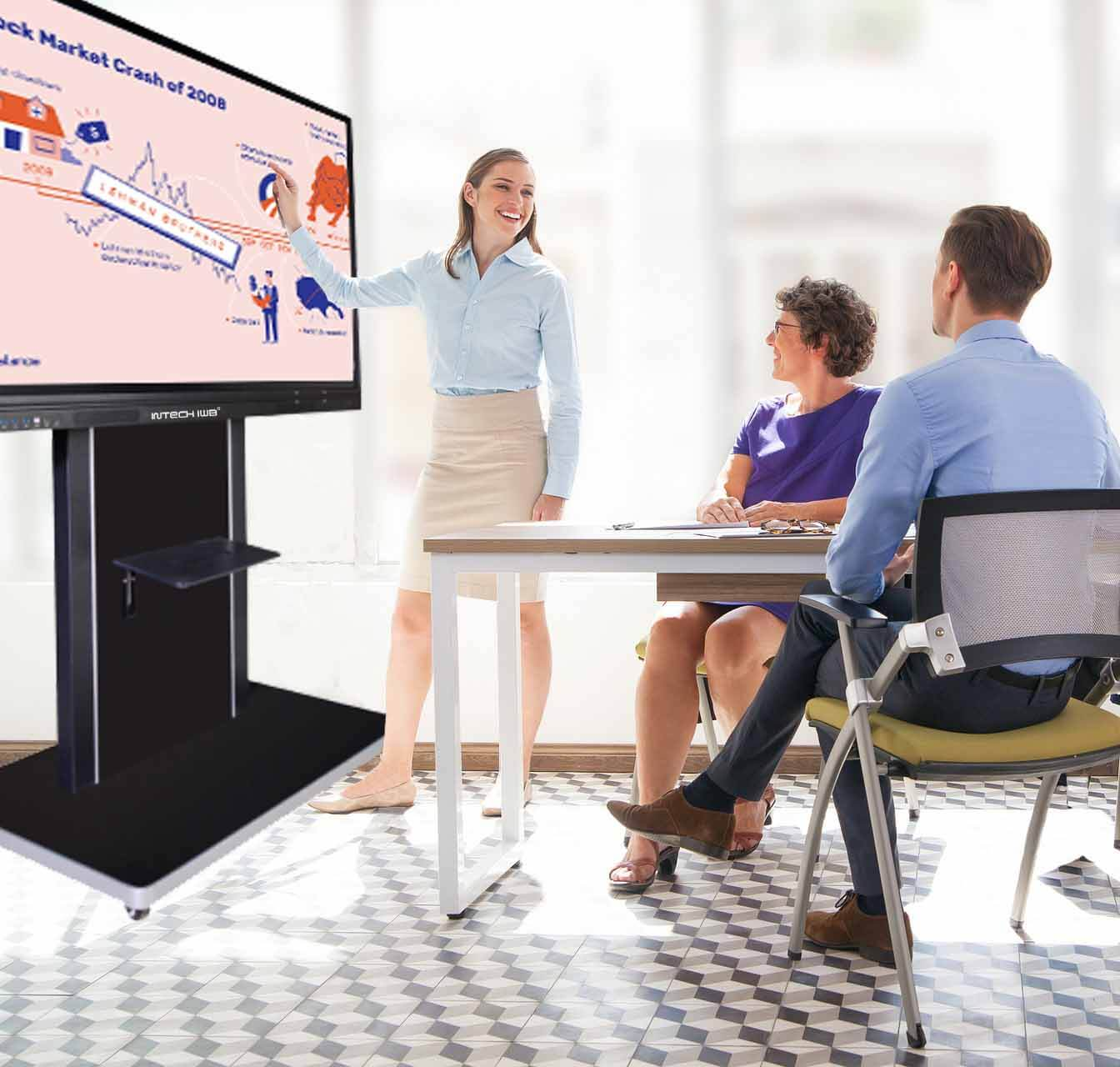 INTECH interactive flat panel in the meeting room