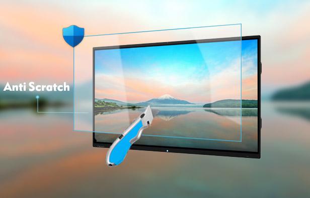 anti scratch interactive display