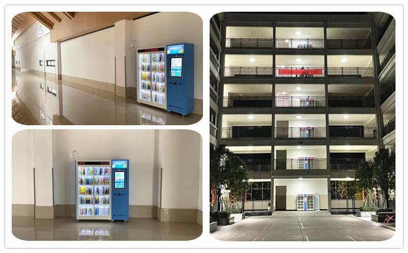 Intech smart mini library in the corridor