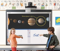 Interactive whiteboard used in the education sector