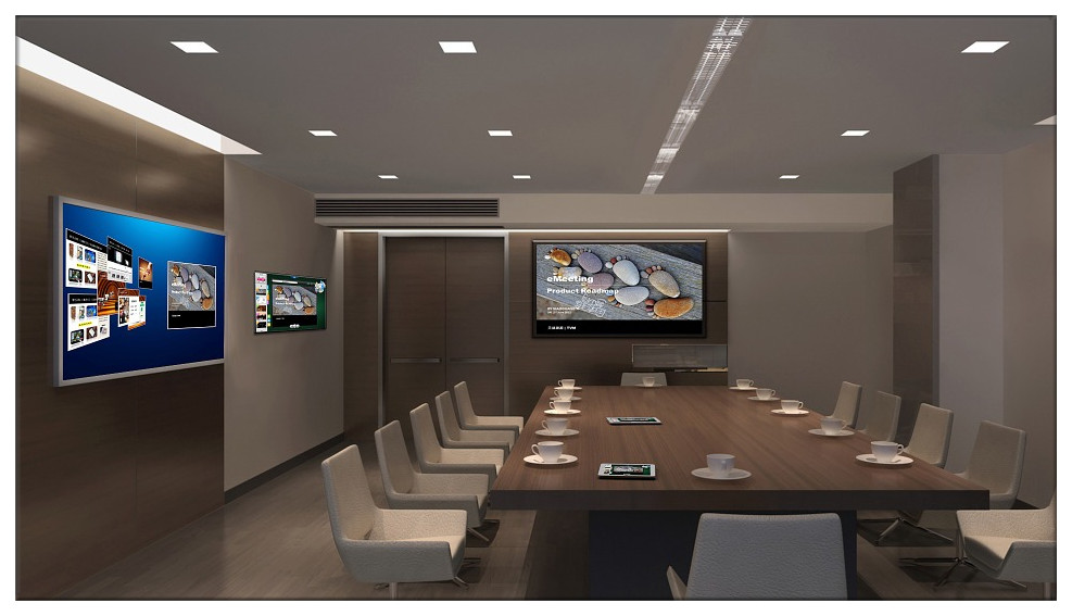 Interactive flat panel in corporate