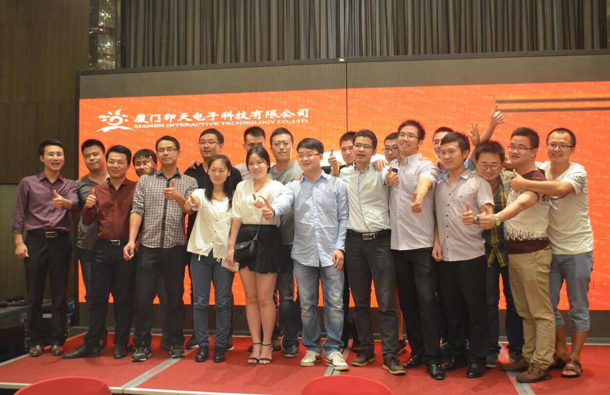 Domestic sales representatives from Intech took a photo together