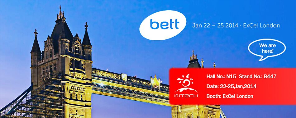 Intech will attend the BETT Show 2014 in London with its latest interactive whiteboards
