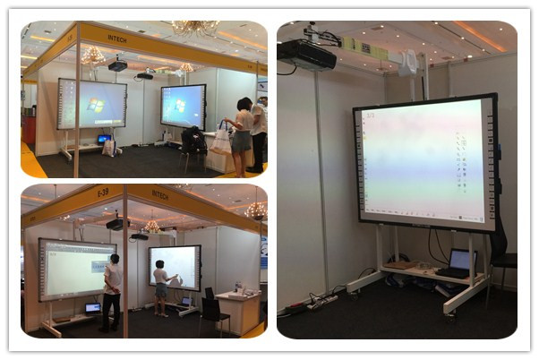 Our colleagues were preparing for the exhibition.