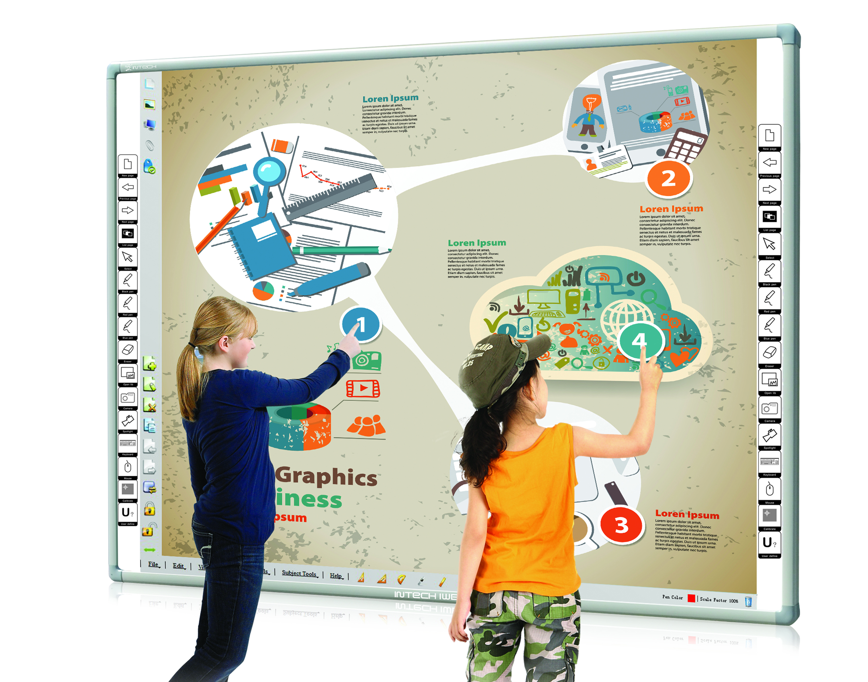 INTECH Infrared Interactive Whiteboard RE80A